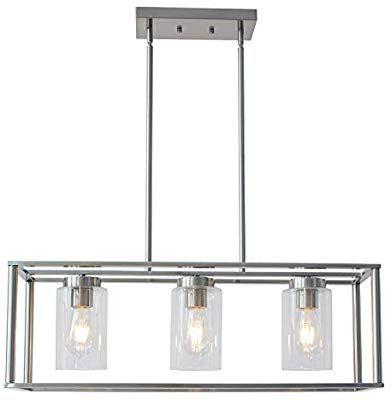 Amazon Com Vinluz Contemporary Chandeliers Black 3 Light Modern