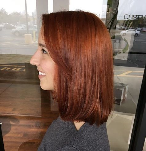 40 Sensuous Red Hair Color Ideas for Fall Shade of+#Brown #Color #coppery #Fall #Hair #Ideas #Kristina #Petrini #Red #Sensuous #shade