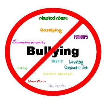 stop bullying.  it happens everywhere ... even with adults.  :(