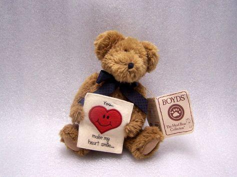 Boyds Bears Plush LILLIAN K BEARSLEY Fabric Jointed Bean Filled 91743 new