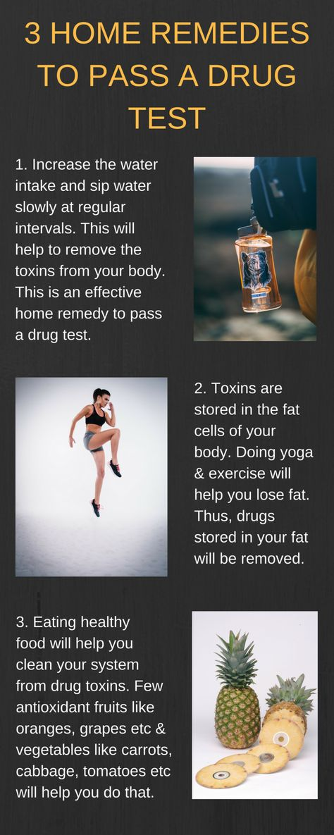 3 Home Remedies To Pass A Drug Test Infographic Drug Test For Weed