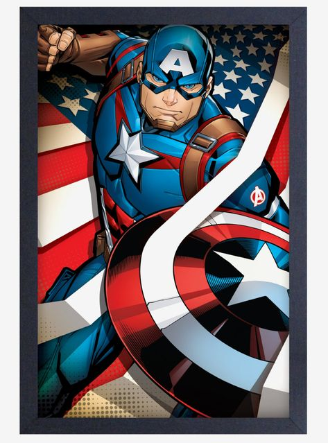 Captain America Limited Edition Minimalist Print 11x17in.