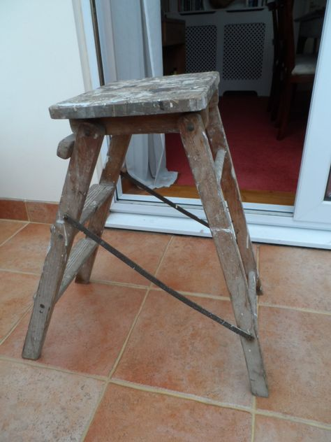 Super All Original Vintage 1960S 1970S Flat Folding Stool And Pdpeps Interior Chair Design Pdpepsorg
