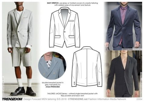 Nice Men's Summer Style SS 2018 trends on Menswear, Tailoring.