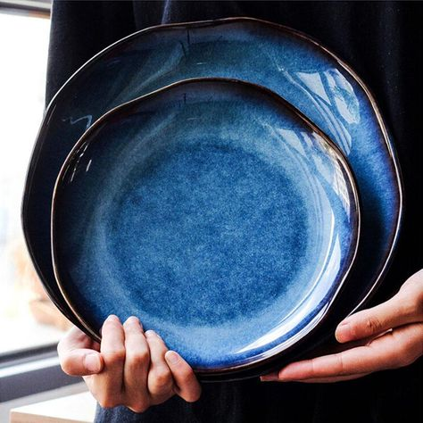 Yilala Dinner Plates Ceramic Plate Dish Deep Blue Tableware Porcelain Irregular Fish Dishes Dinnerware for Kitchen. Yesterday's price: US $45.90 (39.86 EUR). Today's price: US $28.00 (24.21 EUR). Discount: 39%.