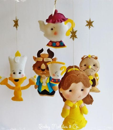 Beauty and the Beast Fantasy Baby Mobile Mobile Hanging | Etsy