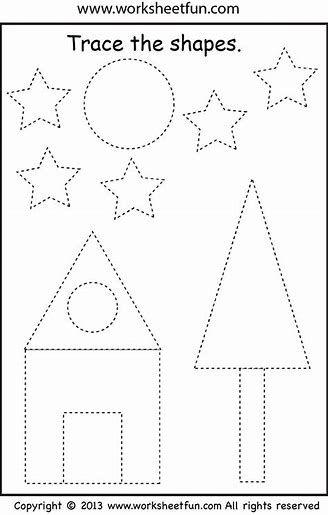 Pin On Fine Motor Preschool shape cutting worksheets