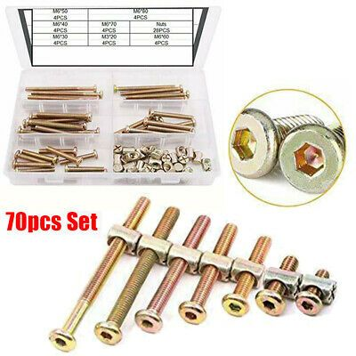M6 Hex Socket Head Cap Screws Nut Kit Set Baby Bed Crib Hardware Replacement In 2020 Baby Bed Cribs Baby Sets
