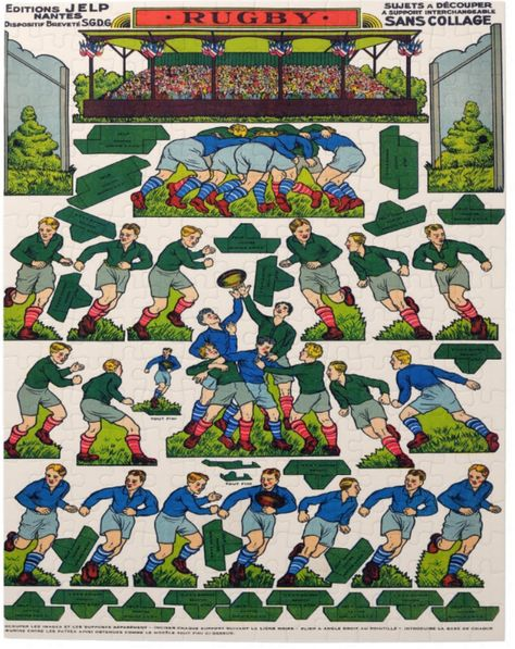 Shop Vintage French Rugby Jigsaw Puzzle created by TheRugbyStore.