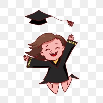 Shallots Going Out Of School Girl Dream Future Beautiful Illustration Hand Painted Graduation Season Graduatio Graduation Girl Student Clipart College Students