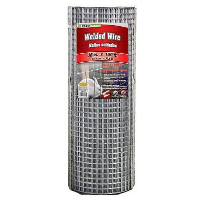Other Garden Fencing 177033 Yard Gard Mesh Galvanized Welded Wire 1 In Mesh Silver 100l X 3h Ft Buy It Now Fence Panels Wood Fence Steel Fence Panels