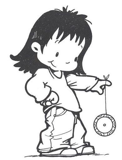 Girl With Yoyo Con Imagenes Dibujos De Juegos Dibujos Para
