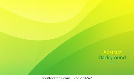 Green Color And Yellow Color Background Abstract Art Vector