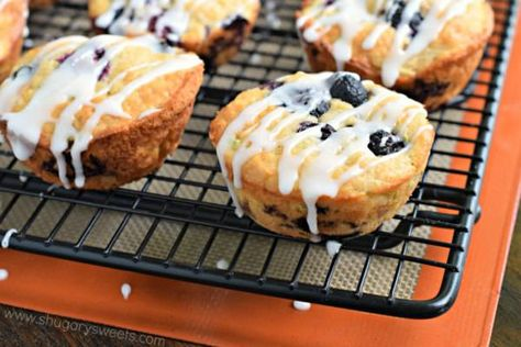 Easy, moist Blueberry Zucchini Muffins are the perfect breakfast or on-the-go…