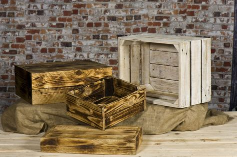 Selection Of Wooden Display Crates