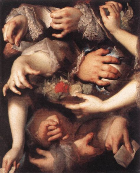 Nicolas de Largilliere - Study of Hands. 1715