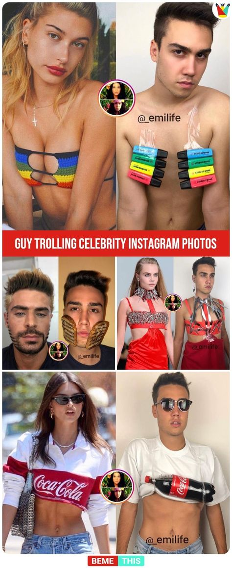Guy Trolling Celebrities Instagram Photos and Its Hilarious