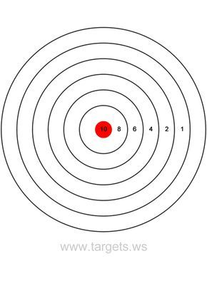 Printable Shooting Targets Colors Are Black White And Red Shooting Targets Paper Targets Target