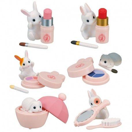 epoch makeup rabbit 2 Gashapon 6 set mini figure capsule toys