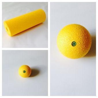 Blackroll 3er-Set; Massageball 8cm,12cm und Massagerolle Mini