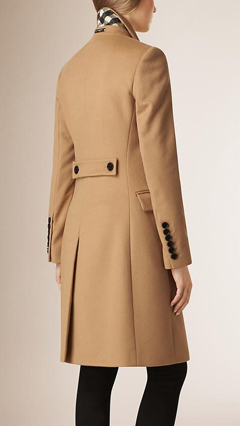 Camel Tailored Wool Cashmere Coat - Image 5