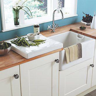 Astracast White Traditional Belfast Sink 595 X 455 X 255mm Belfast Sinks Screwfix Com White Ceramic Kitchen Sink Belfast Sink
