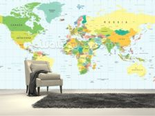 Famous landmarks 3d world map wallpaper maps wallpaper enjoy a world map wallpaper murals in a variety of styles from stylised typographic maps to ancient world maps our wallpaper murals are made to measure gumiabroncs Gallery