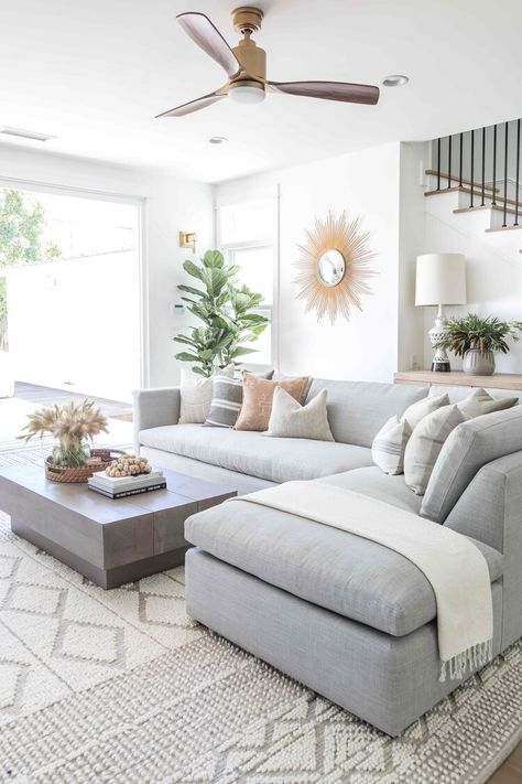 Pure Salt Interiors | Costa Mesa Project | Living Room | #homedesign #interiordesign #livingroom #livingroomideas #livingroomfurniture #livingroomdecor #furniture #seating #couch #styling #designinspo #homedesign #coastalliving #coastalinspo