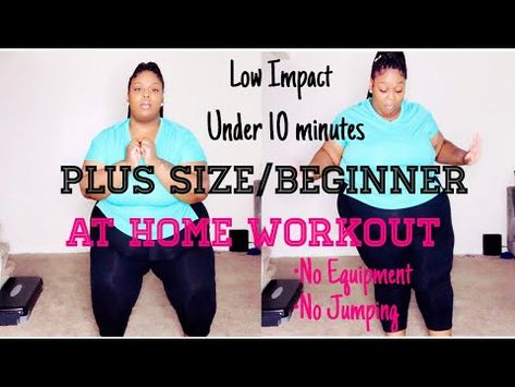PLUS SIZE/ Beginner Workout /Low Impact/No Equipment (under 10 minutes)