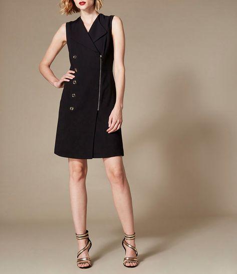 Karen Millen, Abstract Tailored Dress Black Tailored dress