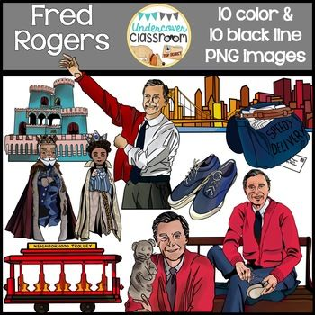 Mr Rogers Clipart Fred Rogers Realistic Clipart In 2020 Fred Rogers Mr Mr Rogers