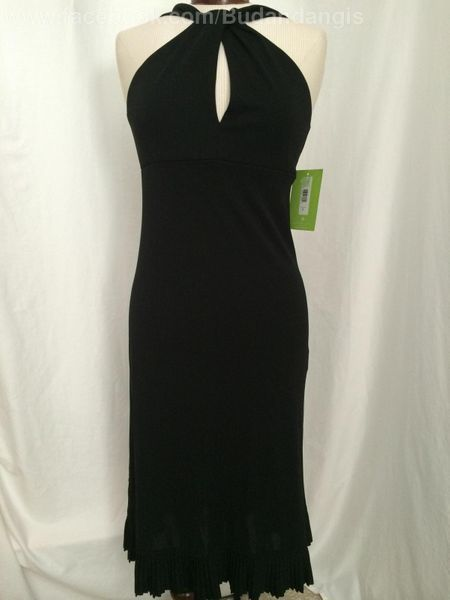 Citrine Canada Black Dress With Ruffle Along Bottom Size 8 Nwt Black Dress Canada Womens Dresses Dresses