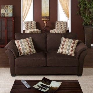 Tulane Dark Brown Sofa | Overstock.com I Want A Sofa With Cushions On The  Arms. | Decorating | Pinterest | Dark Brown Sofas, Loveseats And Living  Rooms