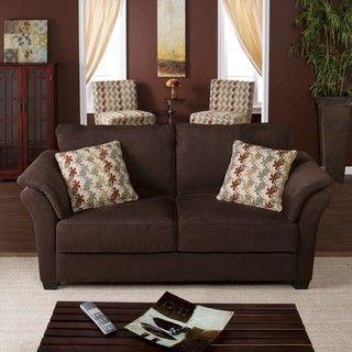 Tulane Dark Brown Sofa Overstockcom I want a sofa with cushions