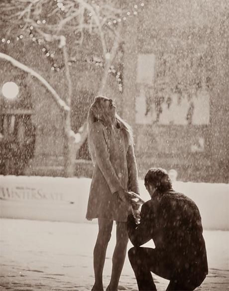 Doesn't get more perfect than snowing at night with a secret photographer. This would be so perfect.