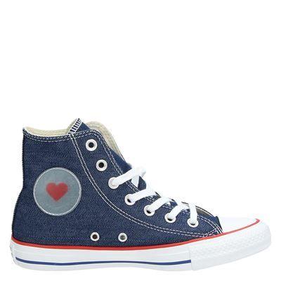 Converse Ctas Hi Love - Hoge sneakers voor dames - Blauw ...
