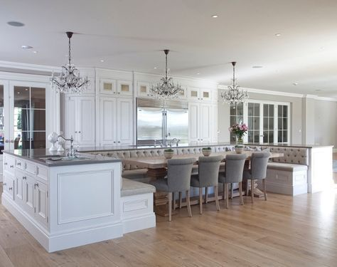 Island Table Combo Totally Doing This Kitchen Island With Seating Kitchen Booths Kitchen Island Booth
