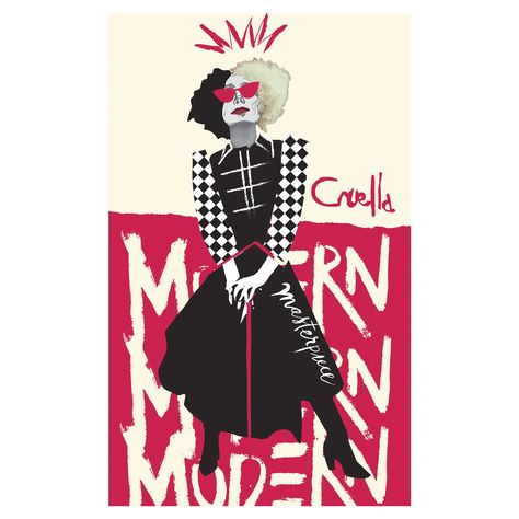 Cruella Movie: Modern Mural - Officially Licensed Disney Removable Wall Adhesive Decal Large by Fathead | Vinyl