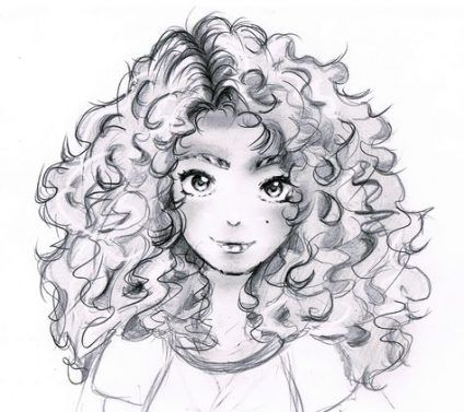 Trendy hair curly drawing anime girls 60+ Ideas #hair #drawing
