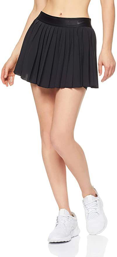 Amazon Com Nike Women S Court Victory Tennis Skirt Black Black Black Large Clothing In 2020 Womens Tennis Skirts Tennis Skirt Nike Women