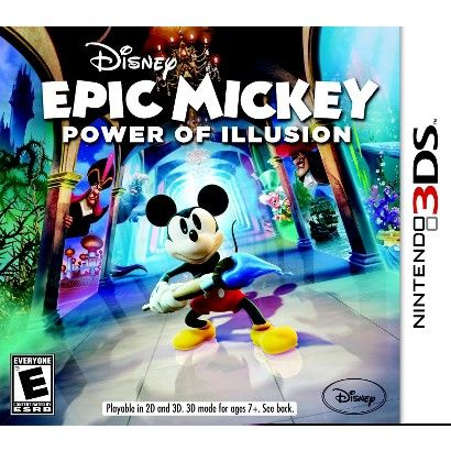 Epic Mickey Power Of Illusion Nintendo 3ds Epic Mickey Disney Epic Mickey Epic Mickey 2