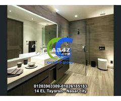أفضل شركه تصنيع وحدات حمامات مودرن كرياتيف جروب للاتصال 01026185183 In 2020 Bathroom Mirror Lighted Bathroom Mirror Bathroom Lighting