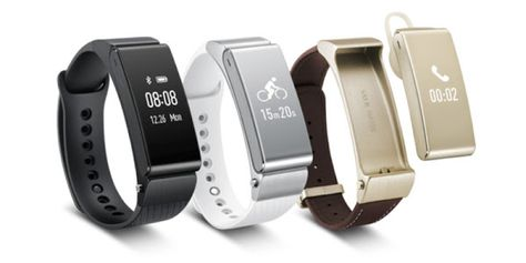 The Huawei Talkband B2 activity smartband and Huawei Talkband N1 stereo headset were announced at MWC 2015, as the successors to the Huawei TalkBand B1