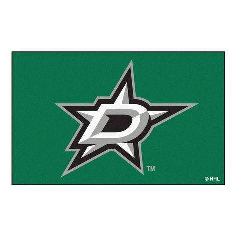 Fanmats Machine-made Dallas Stars Green Nylon Ulti-Mat (5' x 8') (60 inches x 96 inches)