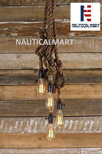 The Hydra Chandelier Industrial Manila Rope Pendant Lig Https