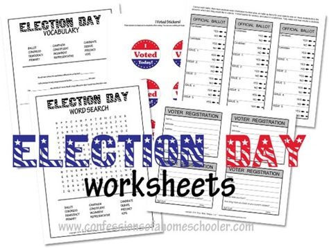 Pin On Homeschooled Election day worksheets