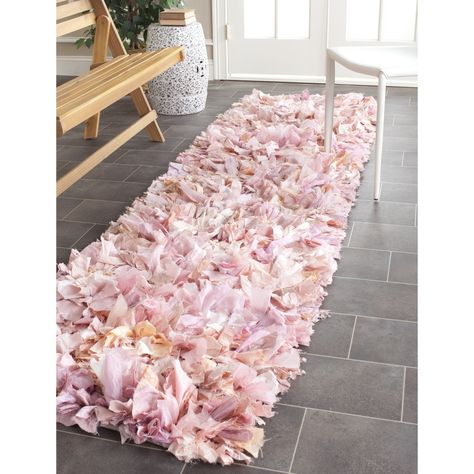 Safavieh Hand-woven Chic Pink Shag Rug x - Overstock™ Shopping - Great Deals on Safavieh Runner Rugs Pink Shag Rug, Shag Rugs, Pink Rug, Gift Wrap Ribbon, Lash Room, Polyester Rugs, Round Area Rugs, My Living Room, Small Living