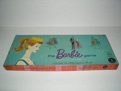 Mattel Vintage Original Barbie Queen of The Prom Board Game 1960 | eBay