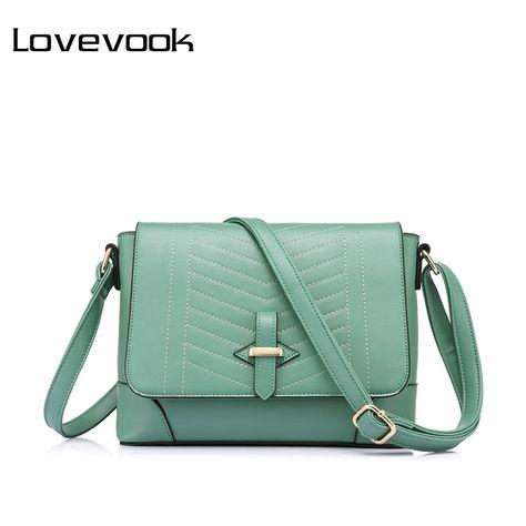 LOVEVOOK brand fashion women messenger bags female small crossbody shoulder  bags high quality solid artificial leather handbag 15a03e8ba2c4