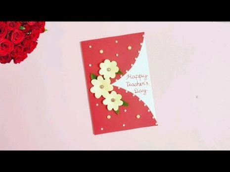 Greeting Card For Teacher S Day Handmade Teachers Day Card Greeting Cards For Teachers Teacher Cards